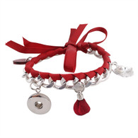 FANCY ROPE LACE BRACELET - RED