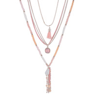 DUBAI MULTILAYERS NECKLACE - CORAL