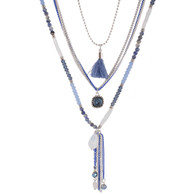 DUBAI MULTILAYERS NECKLACE - BLUE