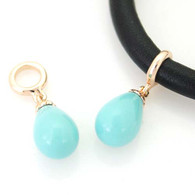 ROSE GOLD TURQUOISE DROP Z-CHARM