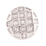 SILVER  PAVE CIRCLE RING Z-CHARM