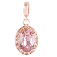 ROSE GOLD AGATE OVAL  Z-CHARM