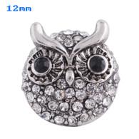 MINI DIAMOND CLUSTER PAVE CRYSTAL OWL