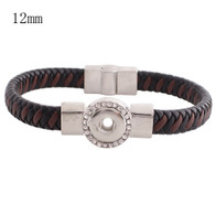 CHOCOLATE & COCOA LEATHER BRACELET