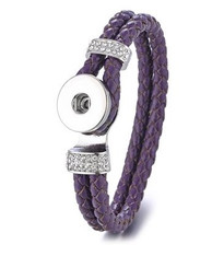 DOBLE BRAIDED BANGLE  21 CM - VIOLET