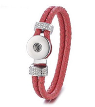 DOBLE BRAIDED BANGLE  21 CM - RED