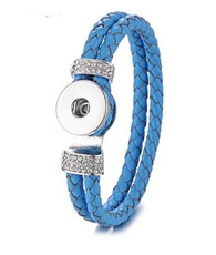 DOBLE BRAIDED BANGLE  21 CM - BLUE