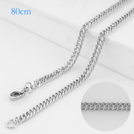 BIG ROPE LONG CHAIN- SILVER