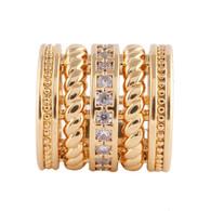 GOLD ROLO DIAMONDS  Z-CHARM