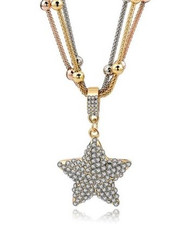 LUMINOUS GOLD STAR- NECKLACE