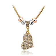 IN LOVE HANGING GOLD HEART- NECKLACE
