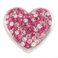 PINK & DIAMOND CLUSTER PAVE DAZZLE  HEART