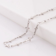 CROSS STAINLESS STEEL NECKLACE- CHAIN