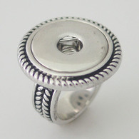 BIG ROPE SILVER RING - SIZE 8