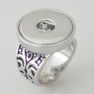 ROOTS SILVER RING - SIZE 8