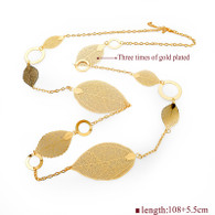 TIME LEAVES GOLD- NECKLACE