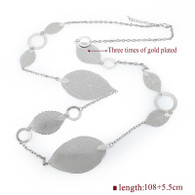 TIME LEAVES SILVER - NECKLACE