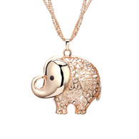 ROSIE ELEPHANT NECKLACE - ROSE GOLD