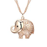 ROSIE ELEPHANT NECKLACE - ROSE GOLD