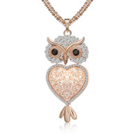 LAVISHNESS OWL NECKLACE - ROSE GOLD
