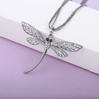 DRAGONFLY NECKLACE -  BLACKSILVER