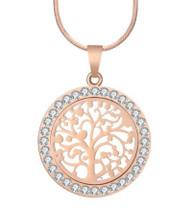 MINI TREE OF LIFE  NECKLACE - ROSE GOLD