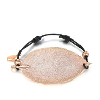 HOPE LEAF  ELASTIC CORD - ROSE GOLD