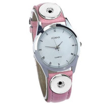 WATCH - LEATHER (PINK)
