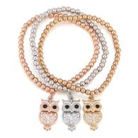 STRETCH BOHO - LAVISHNESS OWL BRACELET