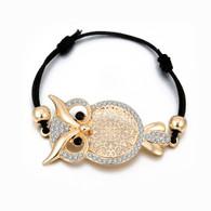 LAVISHNESS OWL  ELASTIC CORD - GOLD