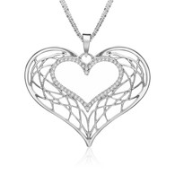 A KIND HEART NECKLACE - SILVER