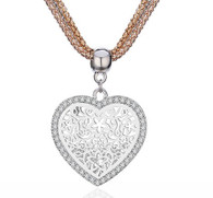ETHNIC LOVE SILVER- NECKLACE