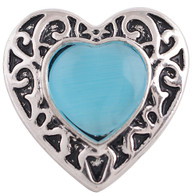 TEAL GOTHIC HEART
