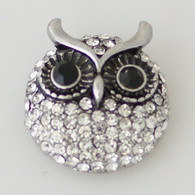 DIAMOND CLUSTER PAVE CRYSTAL OWL