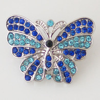 FANTASY MULTIBLUE PAVE BUTTERFLY