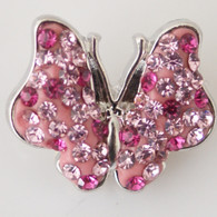 FANTASY MULTIPINK PAVE BUTTERFLY