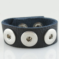 BLACK LEATHER TOGO BRACELET -24
