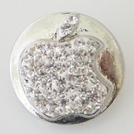 PAVE CRYSTAL SILVER APPLE
