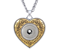 GOLD IN LOVE HEART PENDANT