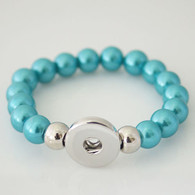 STRETCH TEAL PEARLS BRACELET
