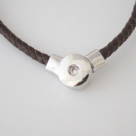 JUST ONE CHOCOLATE LEATHER NECKLACE