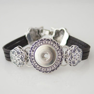 BLOOM MARCASITE LEATHER BRACELET