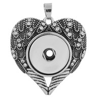 PENDANT - ANGELS HEART  MARCASITE