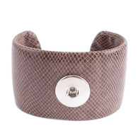 LEATHER CUFF BRACELET - COCOA
