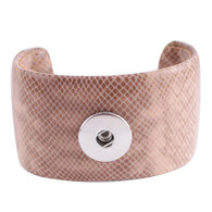 LEATHER CUFF BRACELET - KHAKI