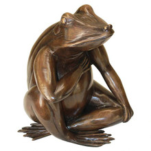 Forever in my Heart: Frog Cast Bronze Garden Statue