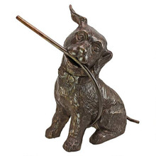 Raining Dogs Piped Bronze Garden Statue