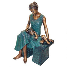 Mother's Moment Cast Bronze Garden Statue