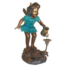 Francine, the Fairy Gardener Cast Bronze Garden Statue