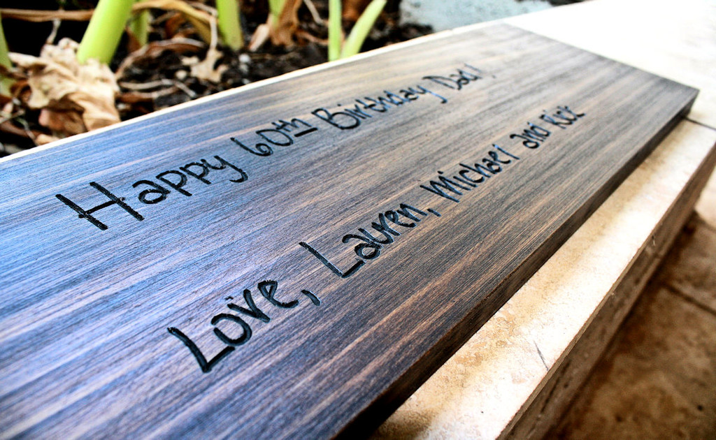 Family Sign with carved personal note